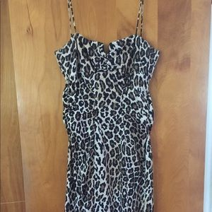 leopard formal dress